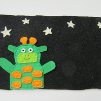 Space themed personalised kids door sign, nursery decor,