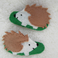 Hedgehog hair clips, toddler hair accessories