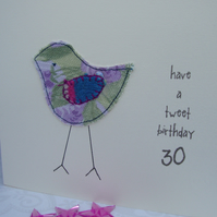 little chick birthday card
