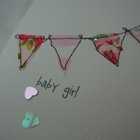 new baby bunting card boy or girl