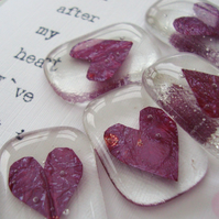 fused glass wedding favours