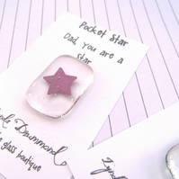 fathers day fused glass  star keepsake