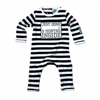 Baby Bodysuit-Just done 9 Months Inside - Baby Shower Gift - Pregnancy Reveal -