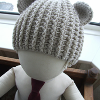 Beary Nice Crochet Bear Hat - 8 to adult