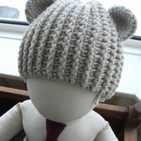 Beary Nice Crochet Bear Hat - 0 to 2 years