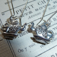Teapot Earrings -  The Mad Hatter's perhaps?