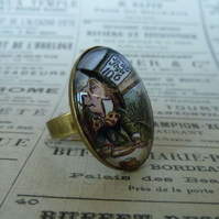'Tea Anyone?' Mad Hatter Ring