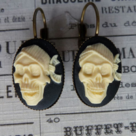 Laughing Pirate Skull Earrings