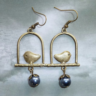 Bird on a Perch Earrings