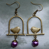 Bird on a Perch Earrings 2