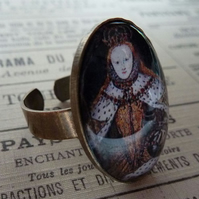 'Queen Elizabeth the First'  Portrait Ring
