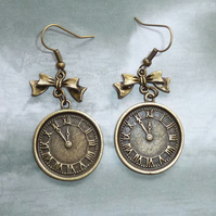 Clock Face Earrings - Alice in Wonderland?