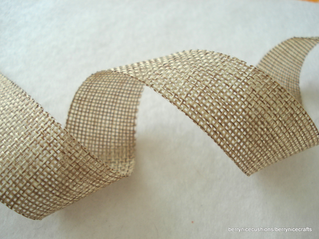 25mm wide burlap ribbon 5 metres jute ribbon fa folksy