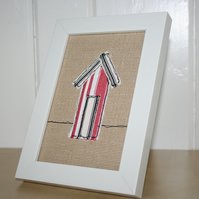 Beach Hut Fabric Picture