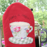 Red Cafetiere Cosy/French Press/ Coffee Pot Cosy