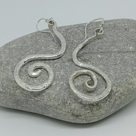 Sterling Silver Coiled Drop Earrings by MidasTouch Jewels by Patsy