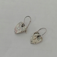 Wild Viola Leaf Earrings Silver by MidasTouch Jewels in Wales