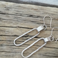 Sterling Silver Fetter Chain Hoop Drop Earrings by MidasTouch Jewels by Patsy