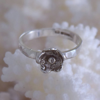 Ring Handmade Sterling Silver and Gold Flower by Midas Touch Jewels in Wales