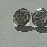 Rose Silver earrings by MidasTouch Jewels in Wales