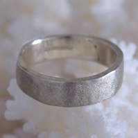 Matching Textured Gold or Silver Wedding Rings Handmade Made in Wales by MidasTo