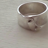 Handmade Silver or Gold Wedding Ring with coiled effect by MidasTouch Jewels in