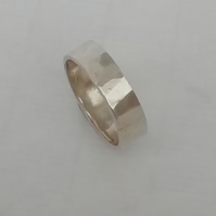 Hammered Silver or Gold Wedding Ring by MidasTouch Jewels in Wales