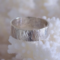 Hammered Silver or Gold  Wedding Ring Handmade by MidasTouch Jewels in Wales