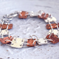 Silver and Copper Bracelet at MidasTouch Jewels by Patsy in Wales