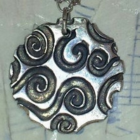 Necklace Swirl in Silver Multi Drop by MidasTouch Jewels in Wales