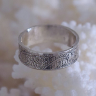 Paisley Silver or Gold Patterned Ring