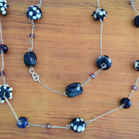 The Blues Handmade Glass Necklace at MidasTouch Jewels by Patsy in Wales