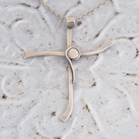 Silver Cross with Stylised Jesus at MidasTouch Jewels by Patsy in Wales
