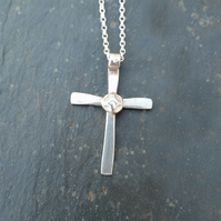 Silver Cross - Small at MidasTouch Jewels by Patsy in Wales