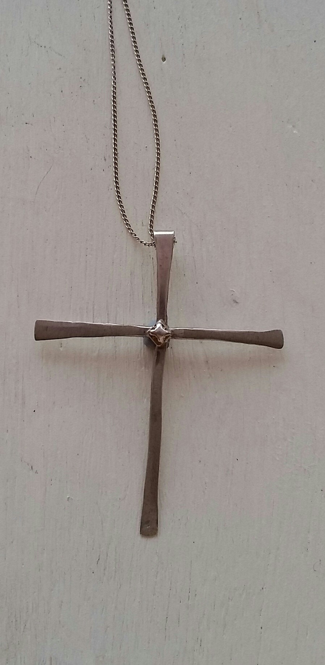 Sterling silver cross with chain at MidasTouch Jewels by Patsy in Wales
