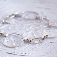 Silver link bracelet at MidasTouch Jewels by Patsy in Wales