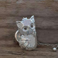 Silver Cat Tie Pin or Collar Stud at MidasTouch Jewels by Patsy in Wales