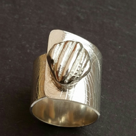 Sterling Silver nugget ring at MidasTouch Jewels by Patsy in Wales
