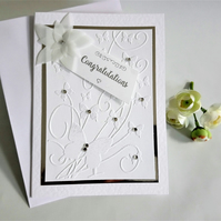 Congratulations Butterfly wedding card