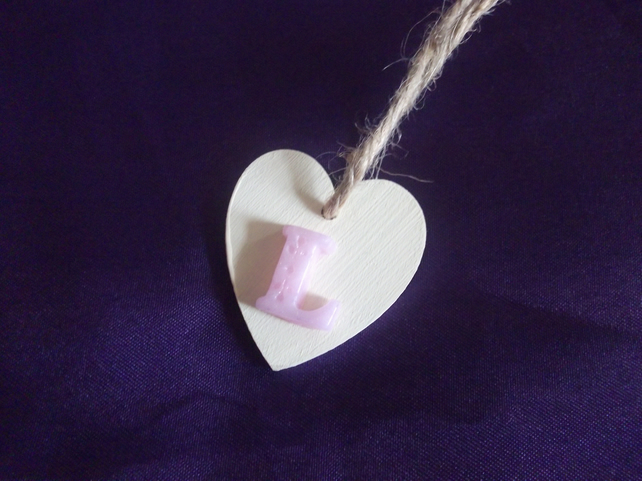 Wooden Heart personalised gift tag