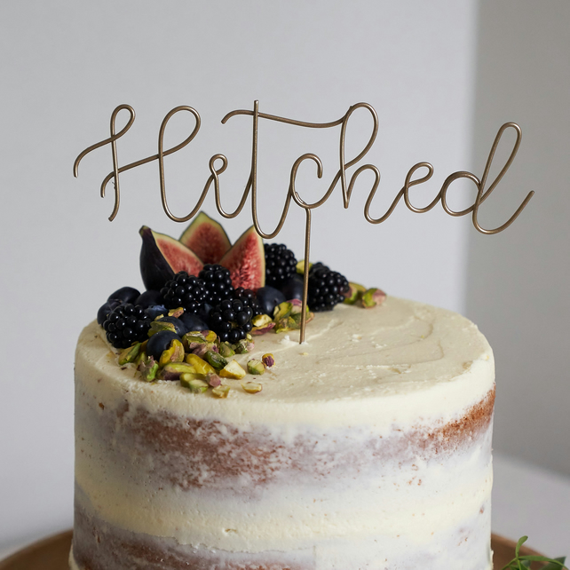 Hitched Wedding Cake Topper Folksy