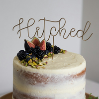 Hitched Wedding Cake Topper
