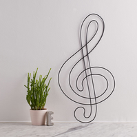 Wire Treble Clef