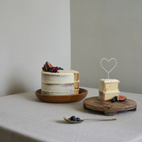 Mini Heart Cake Topper