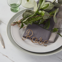 Wire Names, Place Settings, Wedding Favours