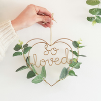 So Loved Eucalyptus Heart Wreath