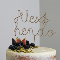 Personalised Wire Hen Do Cake Topper