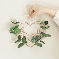 Eucalyptus Personalised Heart Wreath