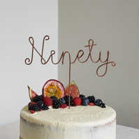 Ninety Wire Cake Topper