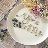 Romantic Place Settings, You and Me Place Names